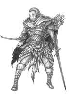 [COMMISSION] Thelyn Aerandir - Half-Elf Ranger by s0ulafein