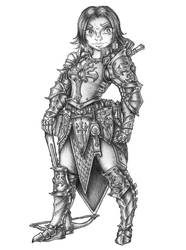 [COMMISSION] Yizelle Alakros - Halfling Cleric by s0ulafein