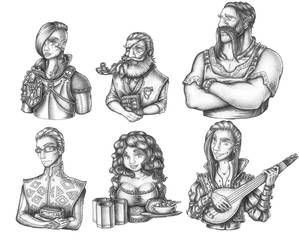 [COMMISSION] NPC Portraits by s0ulafein