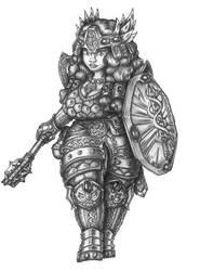 Gunhilda Lykkdottir - Dwarf War domain Cleric