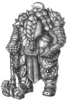 [COMMISSION] Thromgar - Dwarf Forge domain Cleric