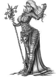 [COMMISSION] Felshasea Athireleth-Drow Necromancer