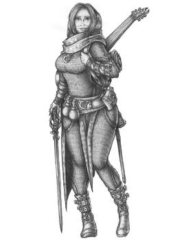 Anna - Half-elf Bard
