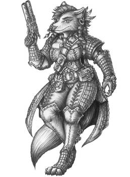 [COMMISSION] Cevara - Wolven Gunslinger