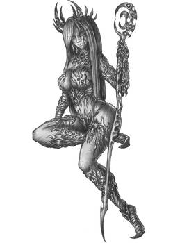 [COMMISSION]Anastasiya - Drow Shadow Sorcerer/Bard
