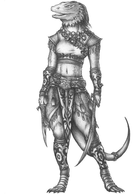[COMMISSION] Drede - Lizardfolk Fighter