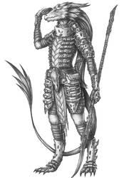 [COMMISSION] Nashka - Lizardfolk Cleric