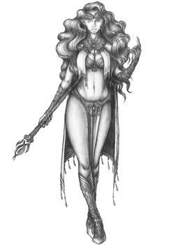 [COMMISSION] Traea - Sea elf Charm domain Cleric