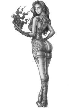 [COMMISSION] Yasemin - Drow Weaver Sorcerer