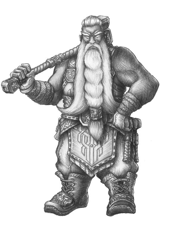 [COMMISSION] Brazier - Azer Wizard Artificer