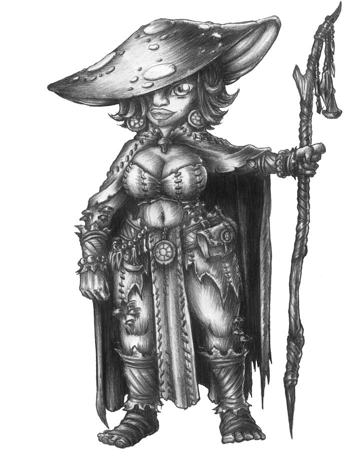 [COMMISSION] Bea - Svirfneblin Spore Druid