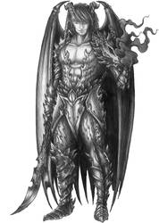 [COMMISSION] Xahried the Vicious - Incubus Paladin