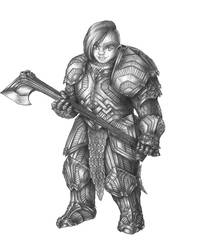 Skalgrumora Ironjaw - Dwarf Paladin