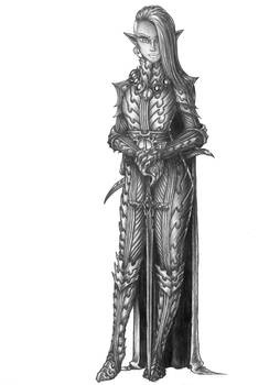 Xune Nirinath-Drow Cleric of Eilistraee (Twilight)