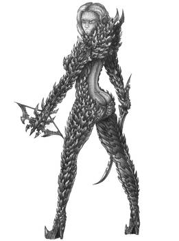 Xullith The Sexy Sawblade - Drow Blackguard