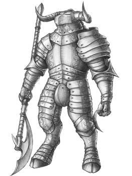 [COMMISSION] Varsoon - Minotaur Knight