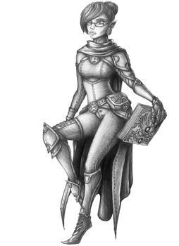 [COMMISSION] Orithana Elmsmile - Wood elf Cleric