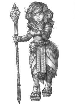 Jennbelle Greruvenn - Dwarf Druid/Cleric