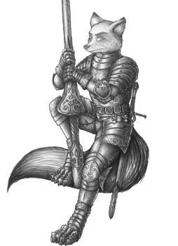 [COMMISSION] Xillon Durand - Kitsune Cavalier