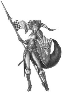 [COMMISSION] Captain Marguerite - Kitsune Cavalier