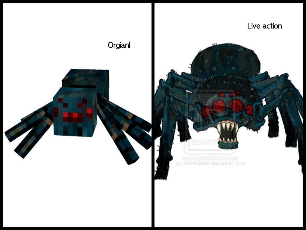 Minecraft cave spider by Mydaughter on DeviantArt