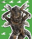 Caramelldansen Xenomorph by Mythee