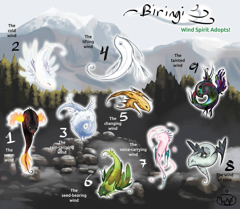 Biringi Wind Spirit Adoptables CLOSED by Mythee