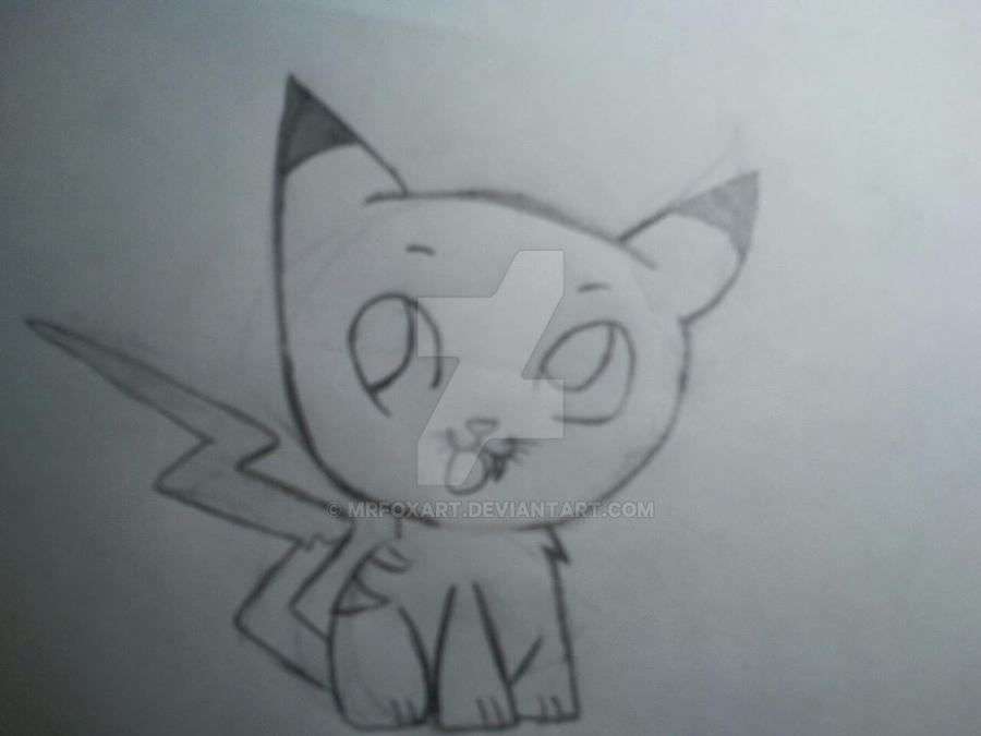 pikachu kitty by mrfoxart on deviantart