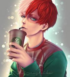 Ice Boy - Commission (BNHA - Todoroki) by shiraishiku