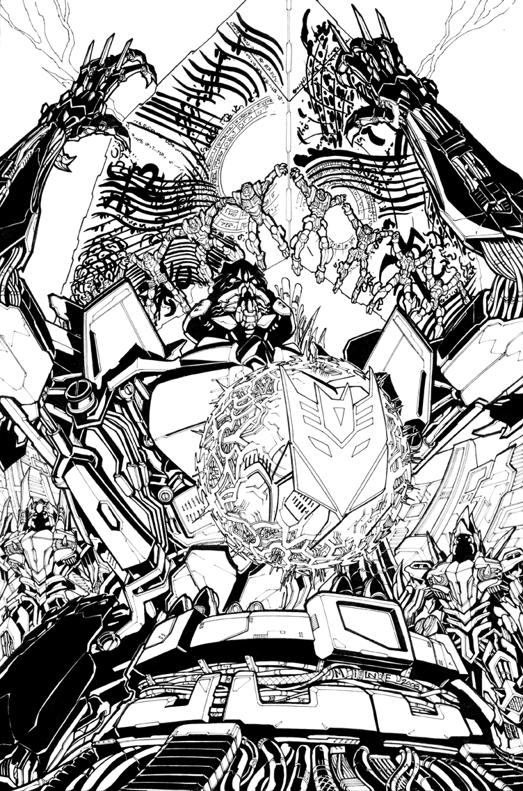 RoS issue 04 cover lineart