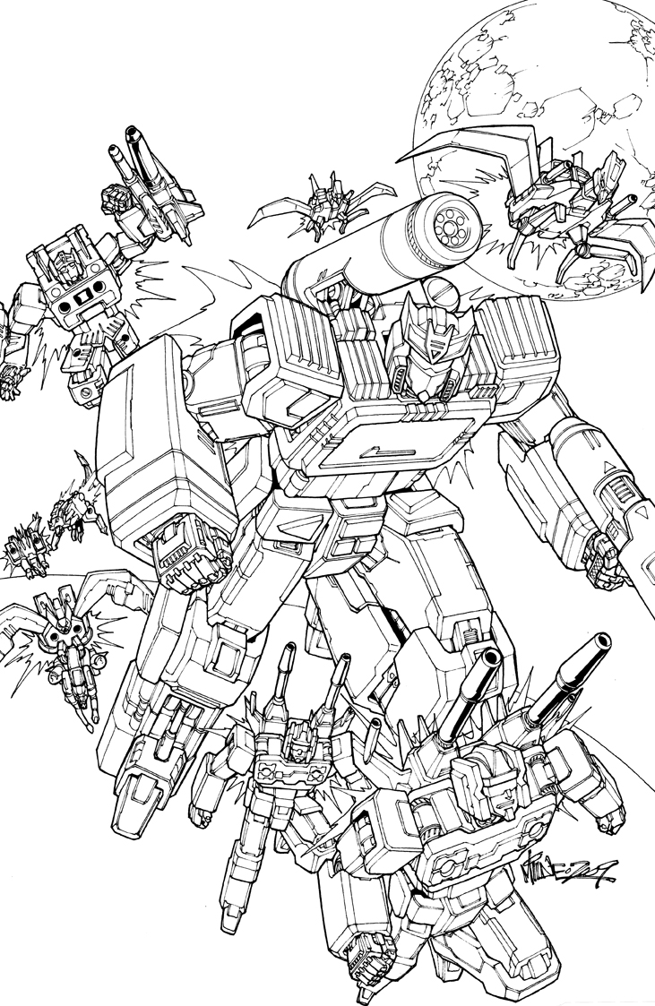 soundwave lineart by markerguru