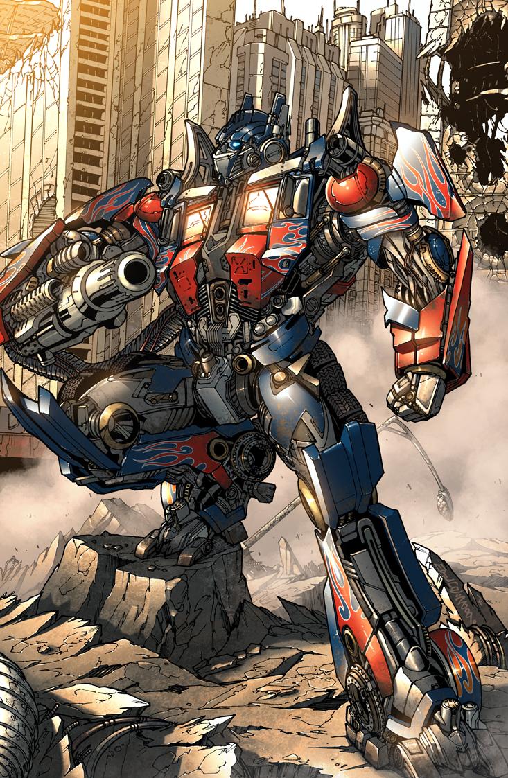 Illustration of Optimus Prime