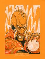 commission. agent orange by markerguru
