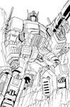 Optimus Prime lineart
