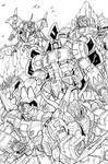 the dinobots lineart