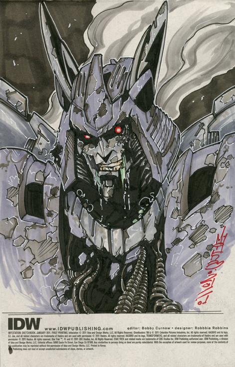 Infestation Cyclonus sketch by markerguru