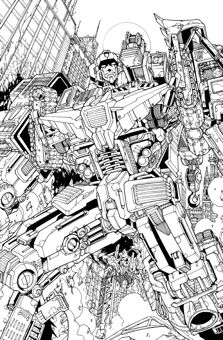 Devastator Lineart By Markerguru On DeviantArt