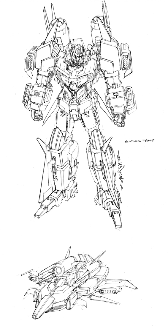 [BD IDW] Q&R: Nova Prime vs Nemesis Prime? | Nominus Prime? | Tarn d'IDW? | Wreackers & Mayhem Attack Squad? | Reign of Starscream | Magazine TF | Switching Gears | Panini TF | etc - Page 2 Nominus_prime_design_by_markerguru-d46poba