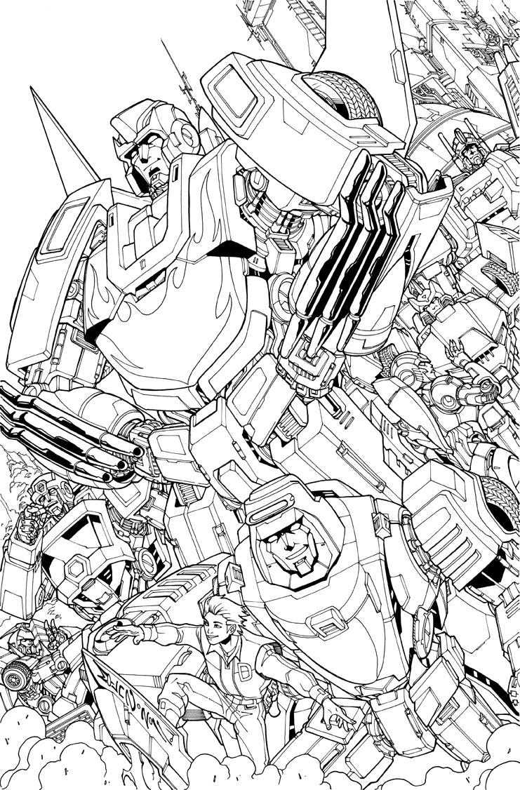 86 autobots tribute lineart