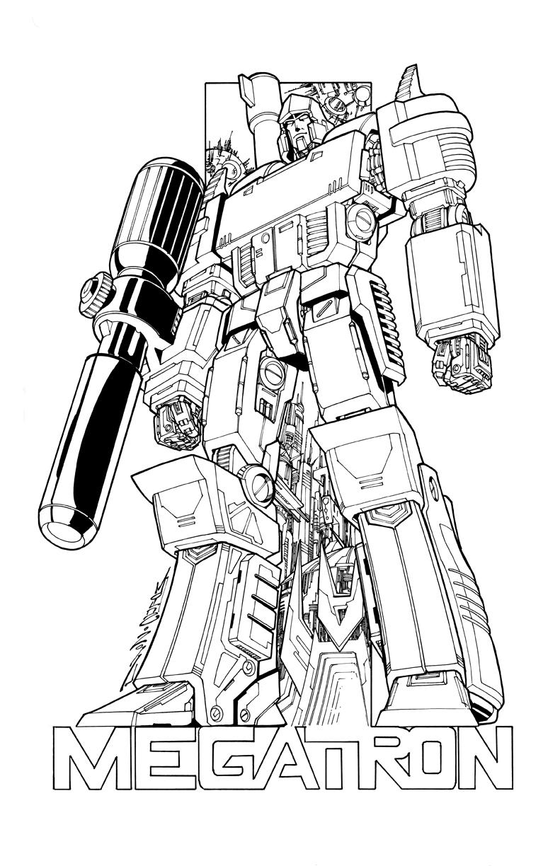 megatron transformers coloring pages   Megatron commission lineart by markerguru on DeviantArt