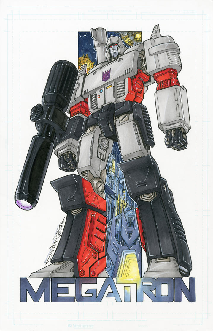 Megatron commission colours by markerguru