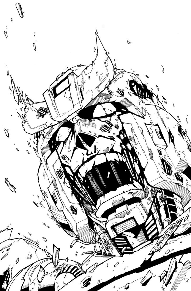 TF MTMTE 05 cover lineart by markerguru