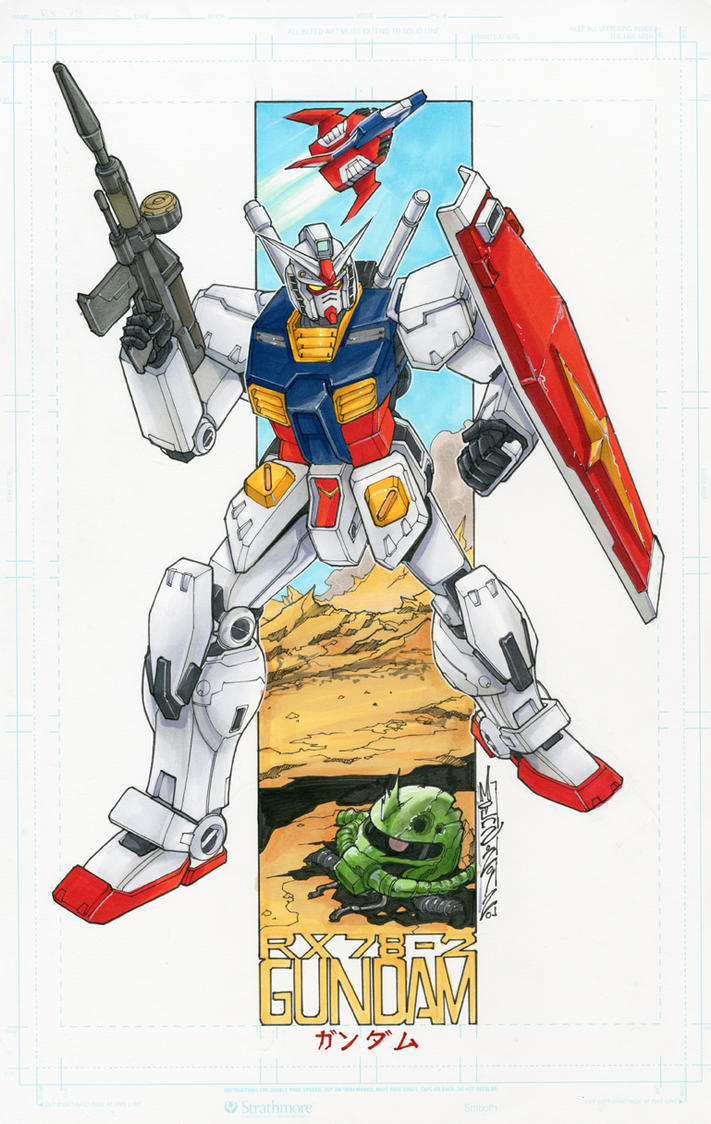 Gundam RX78-2 commission by markerguru