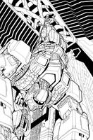TF MTMTE 11 cover lineart by markerguru