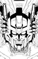 TF MTMTE 14 cover lineart by markerguru