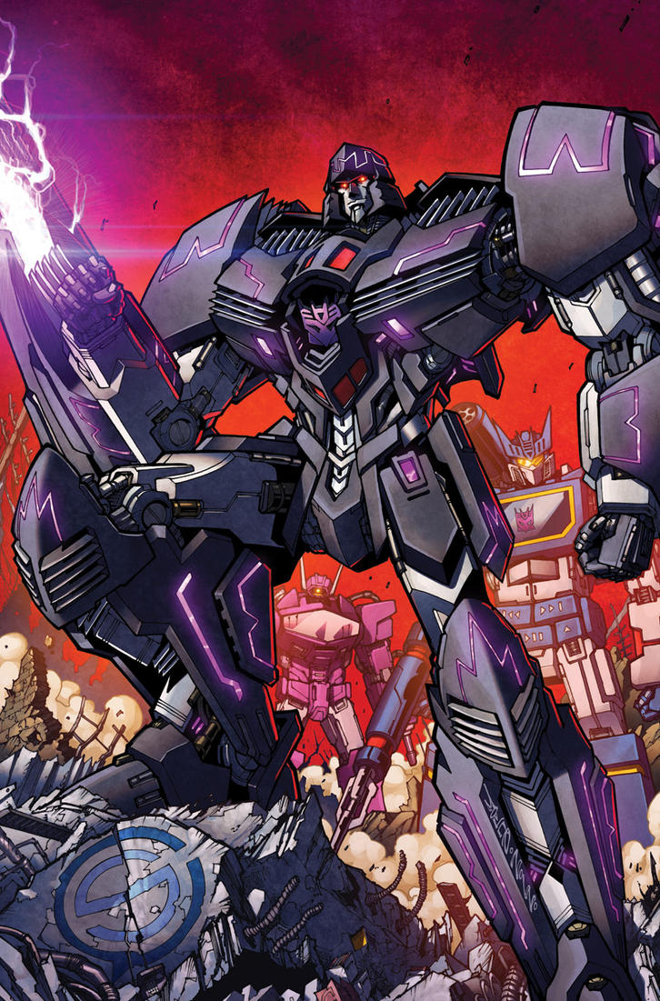 TF Spotlight Megatron RI cover colors by markerguru