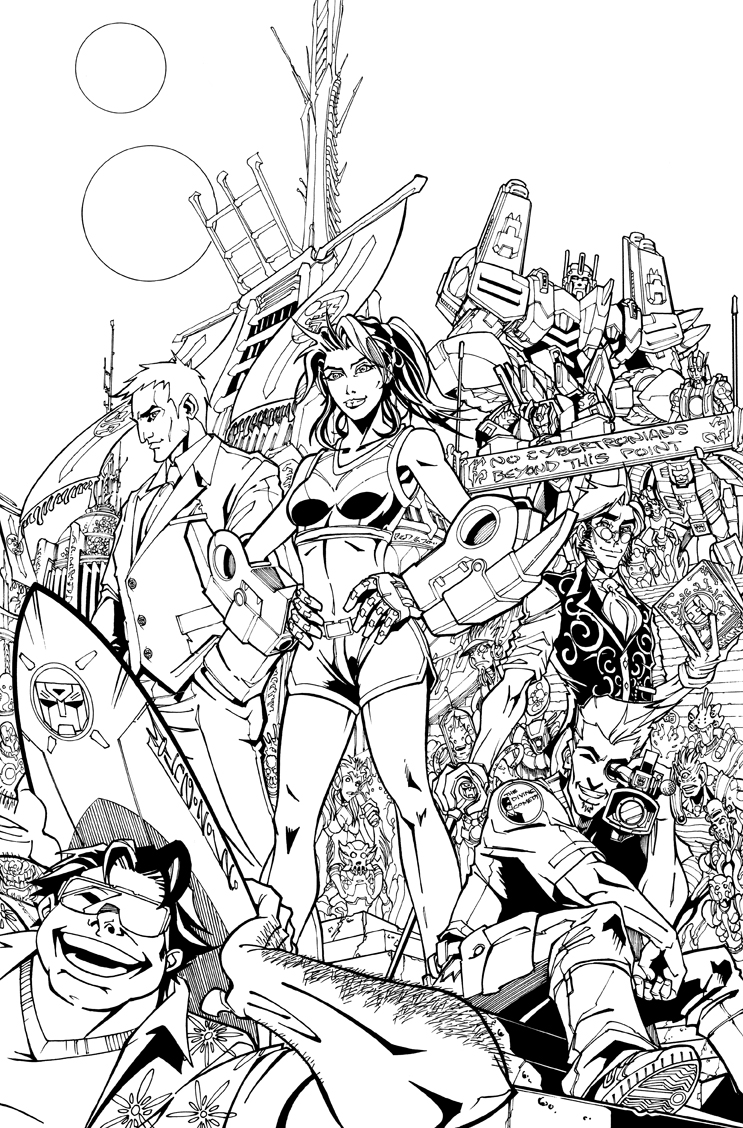Line Art Comic : Tf mtmte cover lineart by markerguru on deviantart