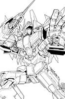 TF MTMTE 19 cover lineart by markerguru