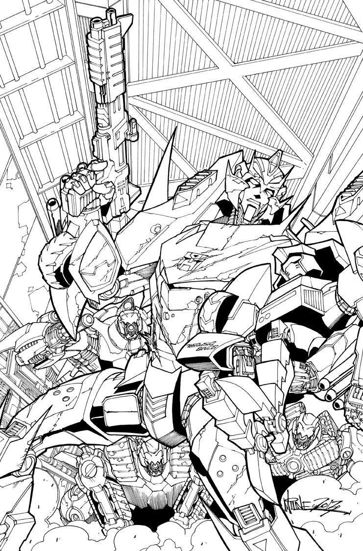 TF MTMTE 20 cover lineart by markerguru