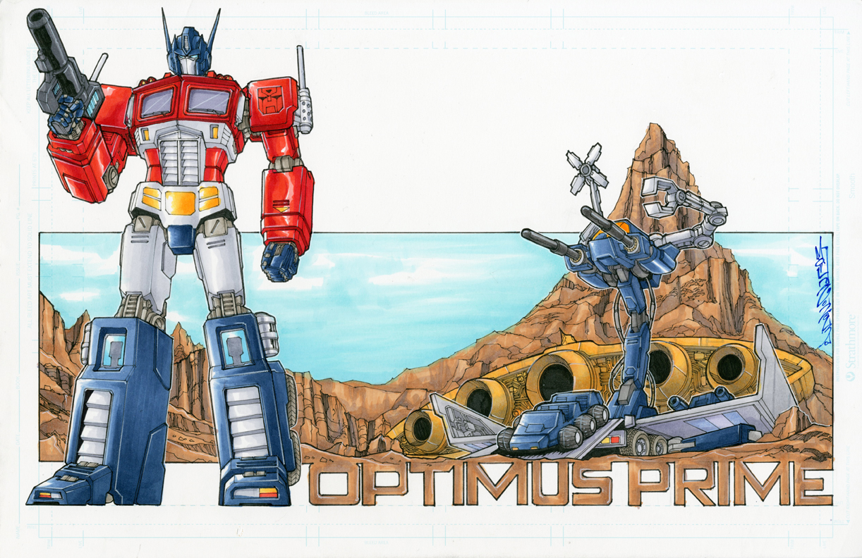 comission optimus prime 02 by markerguru
